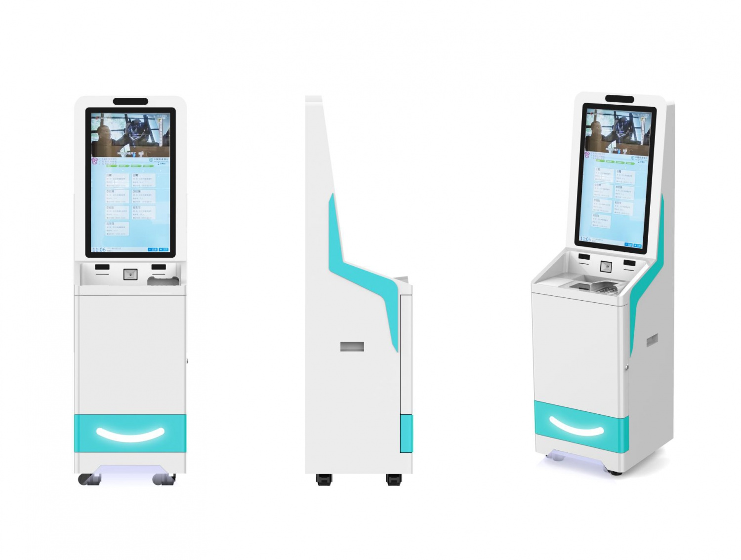 Patient check-in kiosks