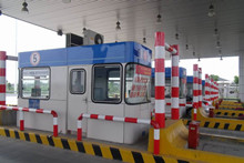 上海松江高速公路不锈钢收费亭