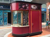金山万达广场镀锌板咖啡售货亭