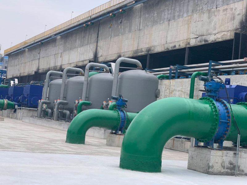 某循环水处理工程现场