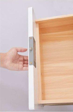 德国原装进口路福芬妮智能锁极简时代长方形指纹拉手一体半导体活体指纹锁(不带LED灯)