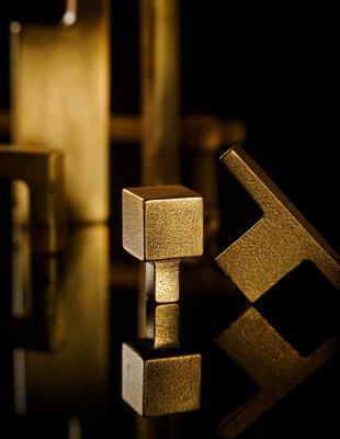 比利时原装进口JOLIE黄铜手工制作北欧风长方形实心简易拉手