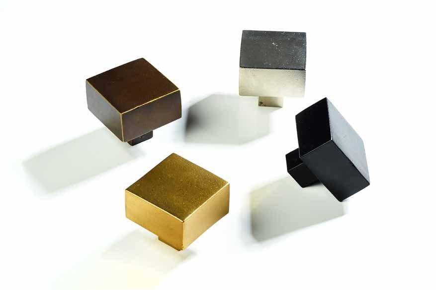 比利时原装进口JOLIE黄铜手工制作北欧风正方形实心简易拉手