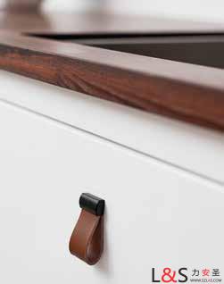 进口丹麦furnipart北欧风简易单指拉型皮革拉手