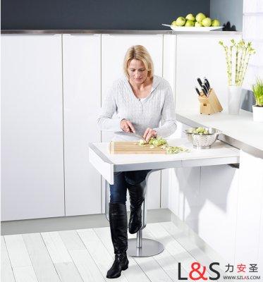 kessebohmer-凯斯宝玛台下伸展桌轨道可伸缩餐台轨道抽拉伸餐桌