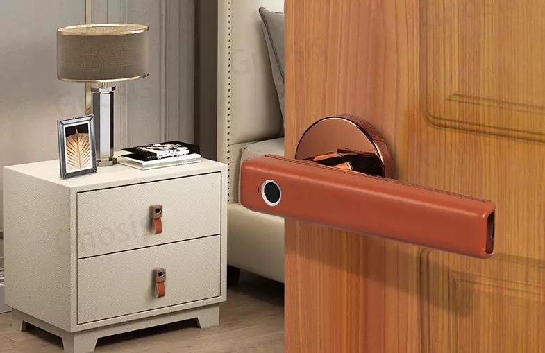 德国原装进口路福芬妮智能锁360度半导体黄皮指纹锁