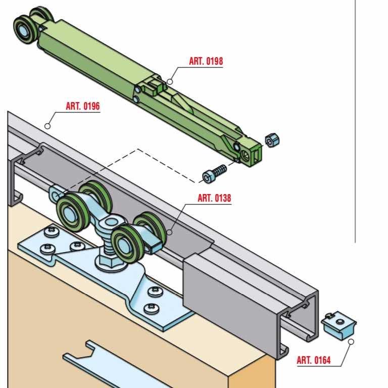 意大利SISCO 进口 隐藏移门系统 KIT0138-0198-100KG