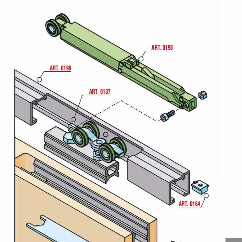 意大利SISCO 进口 隐藏移门系统 KIT0137-0198-100KG