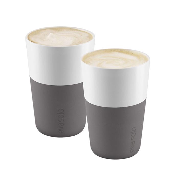 丹麦Evasolo简约咖啡杯马克杯陶瓷杯隔热易清洗情侣杯2件套