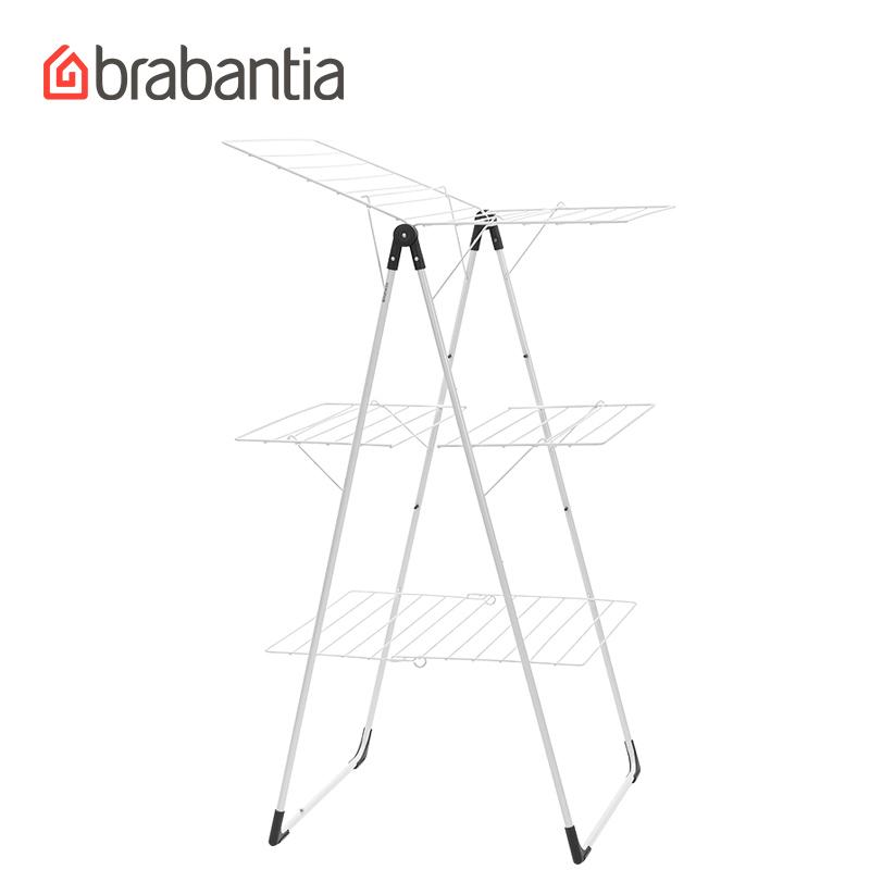 brabantia柏宾士室内外折叠婴儿晒被架阳台梯形翼形落地晾衣架