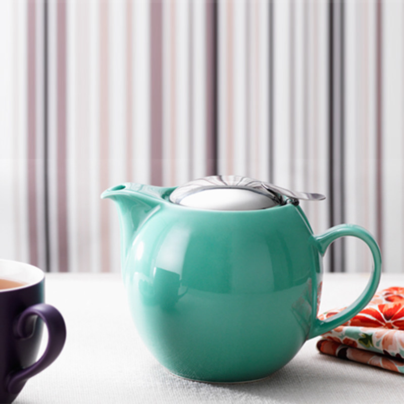 【茶壶套装】日本进口ZERO JAPAN日式陶瓷和风泡茶壶圆形美浓烧