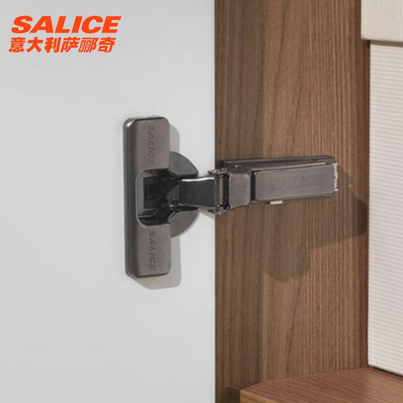 salice/萨郦奇一字薄门铰链阻尼缓冲静音橱柜钛金色全盖中弯合页