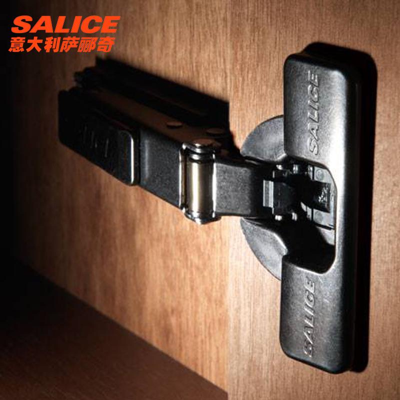 salice/萨郦奇一字厚门铰链阻尼缓冲静音橱柜钛金色200型厚门