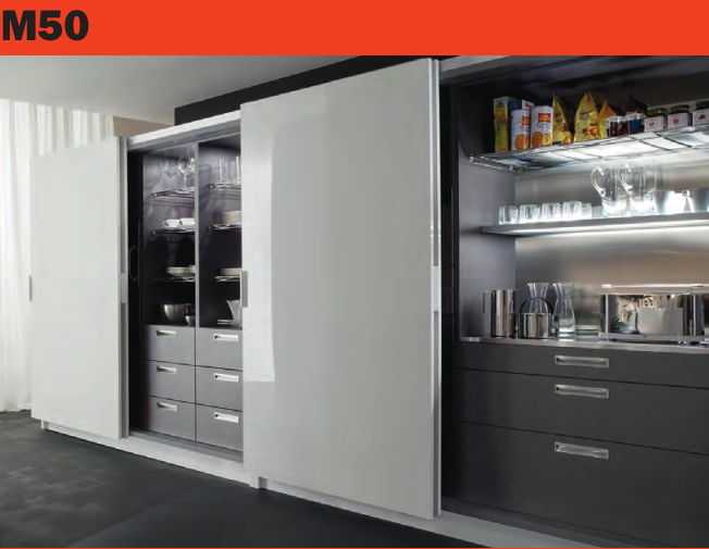 意大利  萨郦奇M50 两门齐平移门大衣柜门