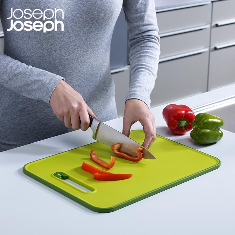 英国Joseph Joseph多功能切菜板悬挂易收纳案板带磨刀石辅食砧板