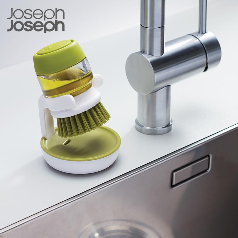 英国Joseph Joseph洗碗刷清洗液罐厨房清洗刷套装 不伤锅洗碗刷
