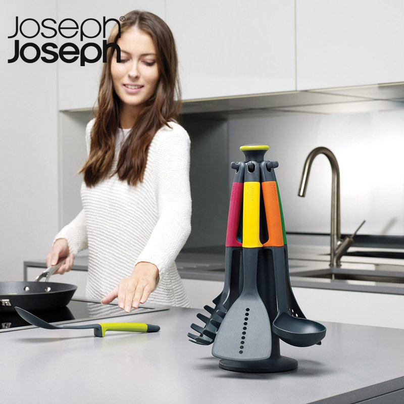 英国Joseph Joseph家用旋转木马不粘桌面汤勺漏勺锅铲厨具5件套装