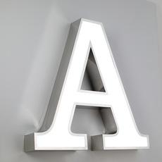 不锈钢平面发光字广告标识字2