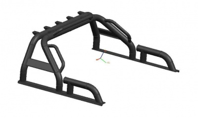 Universal black roll bar sport bar for pick up