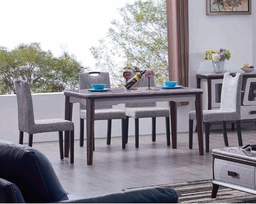DB805餐边柜+CT805餐台+Y801餐椅