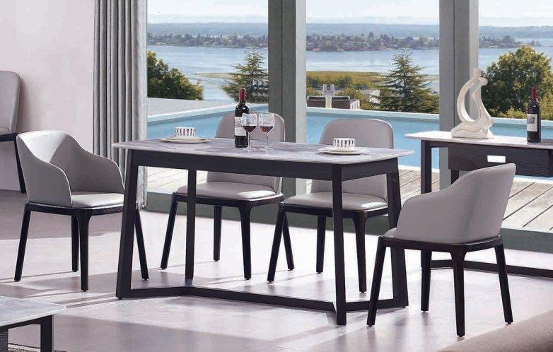 CT818餐台+Y512餐椅+Y513餐椅