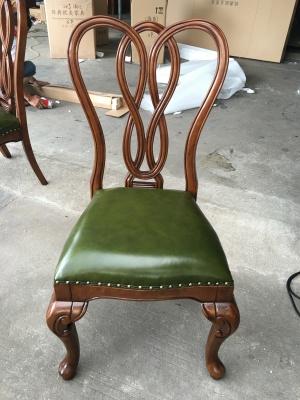 MJS-C30S无扶餐椅 绿色油腊皮