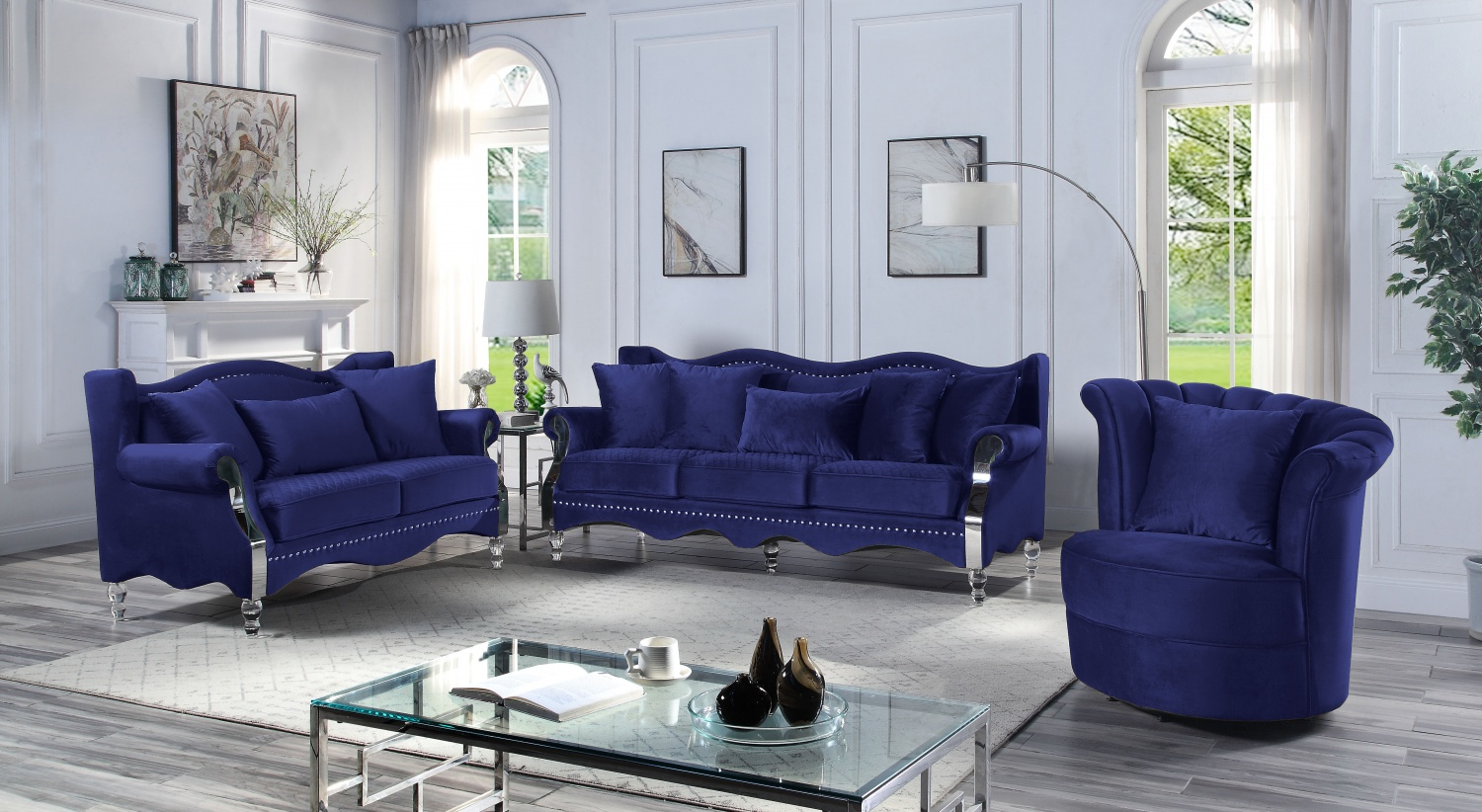 MS2121+2127CHAIR NAVY BLUE