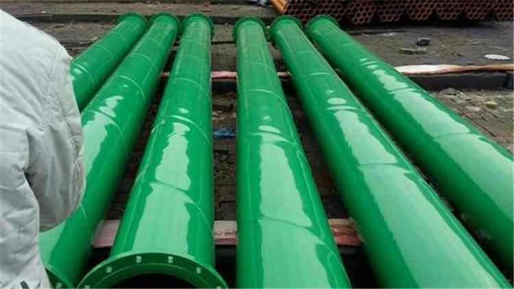 绿色给水涂塑钢管