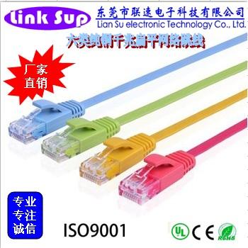 六类非屏蔽扁平网络跳线