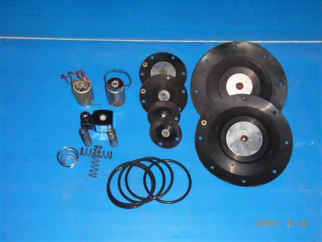 电磁阀、膜片、弹簧、密封圈
