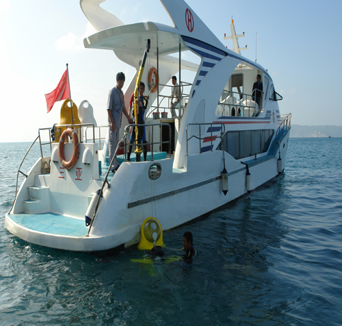 Hainan dumbo diving motorcycle used on yachts