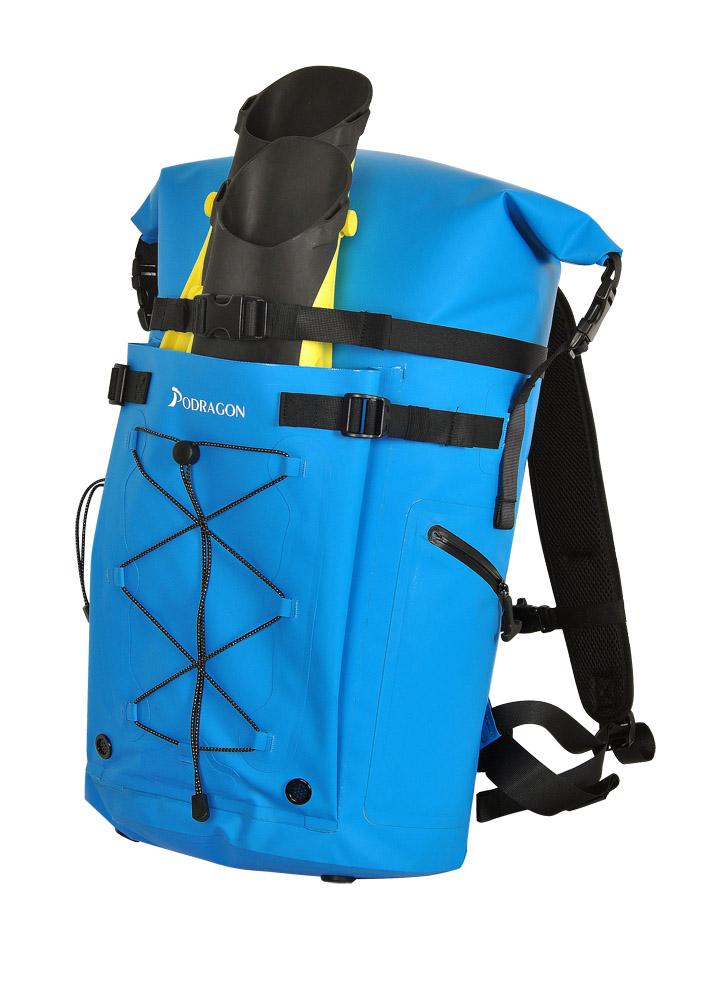 Podragon潜水装备包脚蹼包发布孔雀蓝色与明黄色款