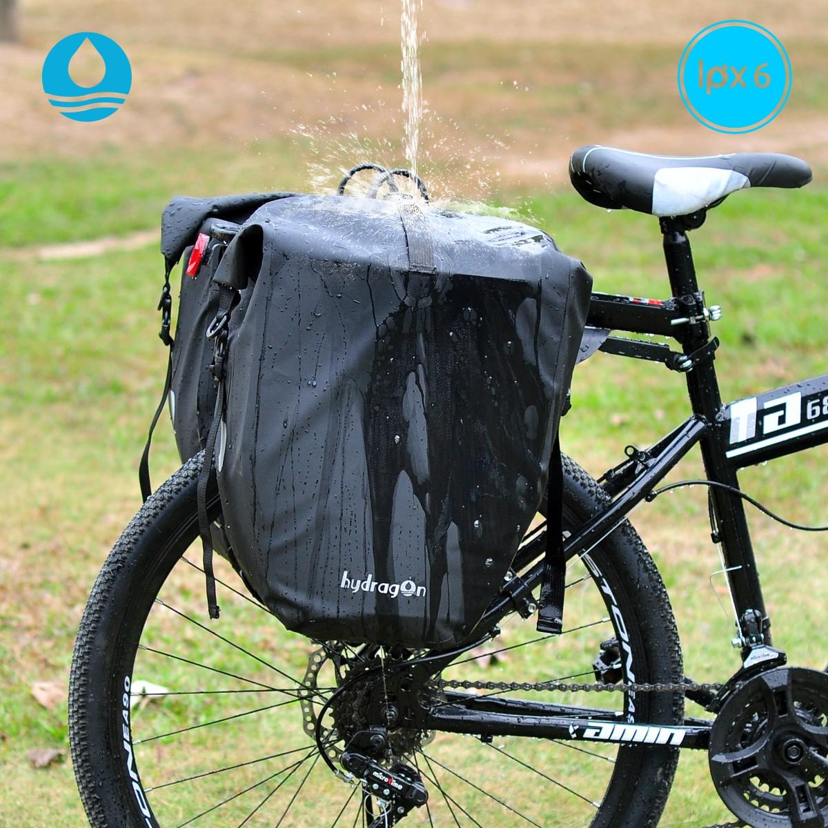 海泽龙自行车挂包后架货驮包骑行防水装备包简约款