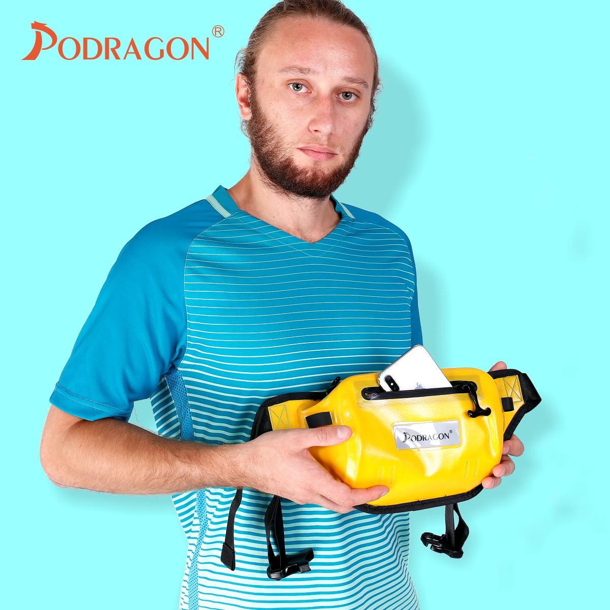 Podragon气密腰包浮潜游泳冲浪双拉链全防水腰包大容量手机防水袋