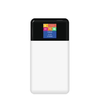 4G充电宝无线路由器 10000毫安电池 随身wifi 带显示屏