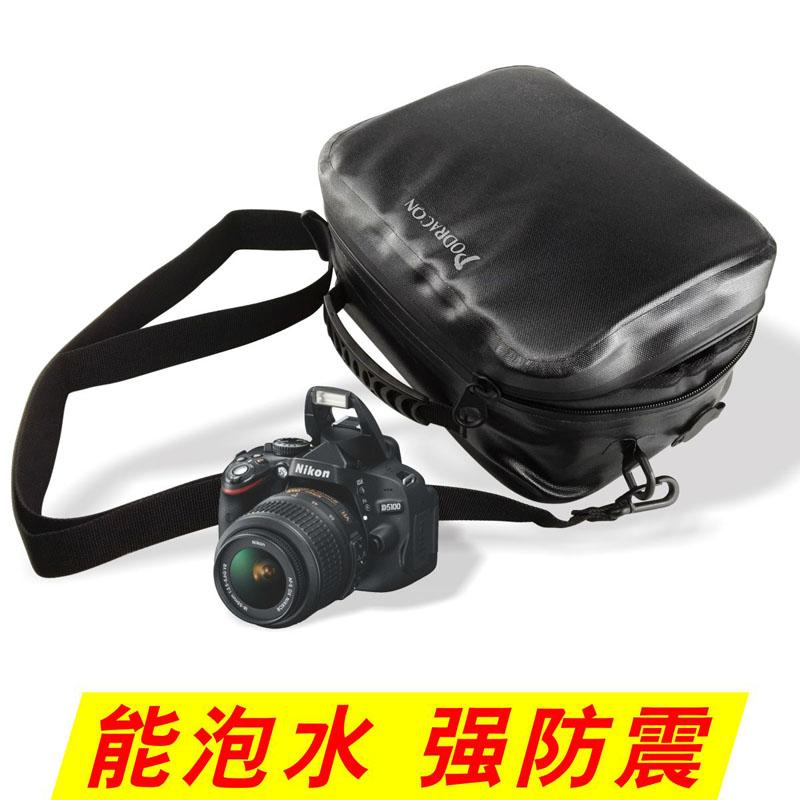 Podragon潜水摄影包防水背包尼康佳能单反相机防震密闭套袋包单肩