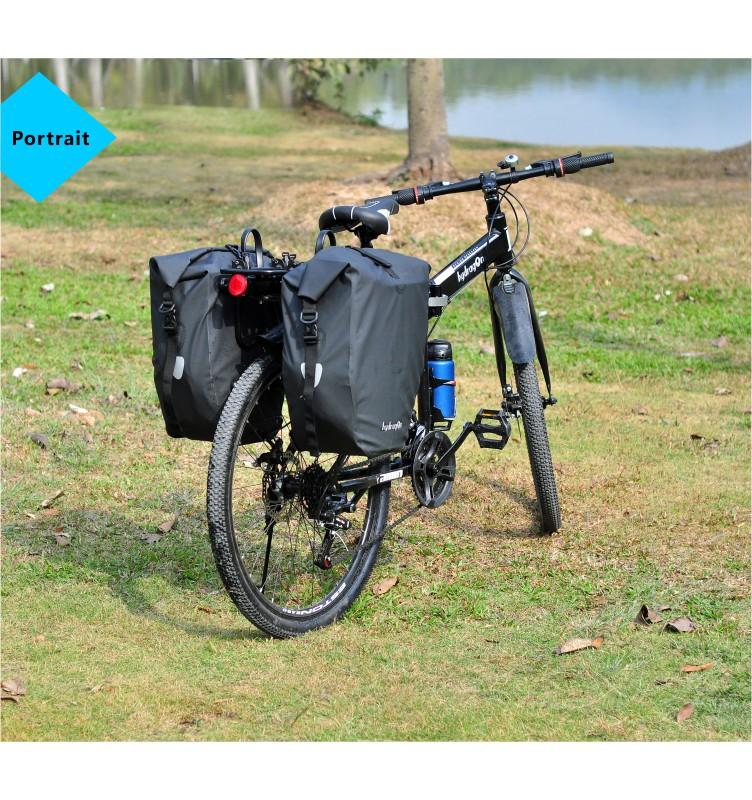 海泽龙简约款自行车驮包侧包全防水户外骑行山地车包
