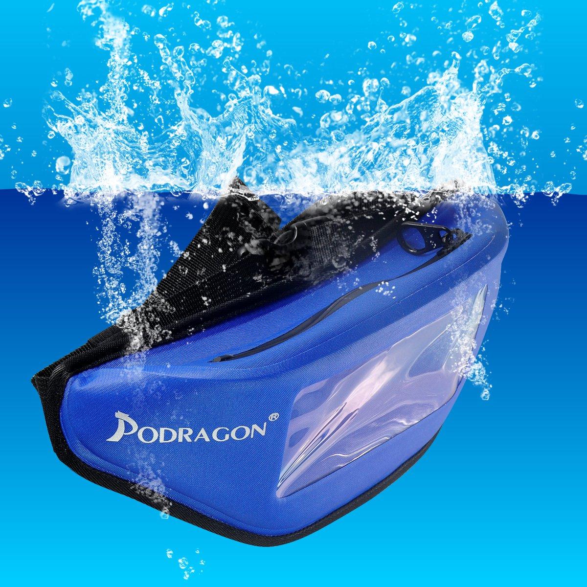 Podragon潜水腰包超级气密拉链大容量户外游泳男女手机防水袋浮潜