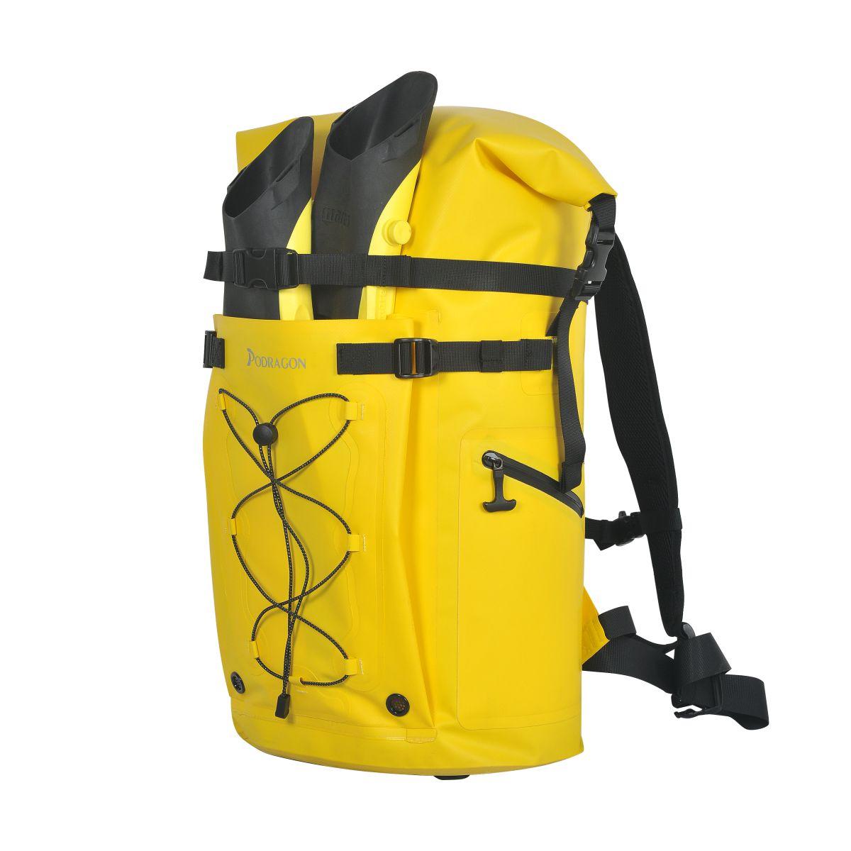 Podragon自由潜水装备包脚蹼包双肩防水背包冲浪蛙鞋收纳浮潜漂流