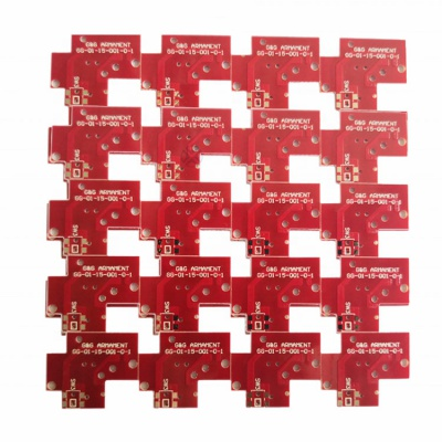 4-Layers FR-4 HASL Red PCB for Robotic products