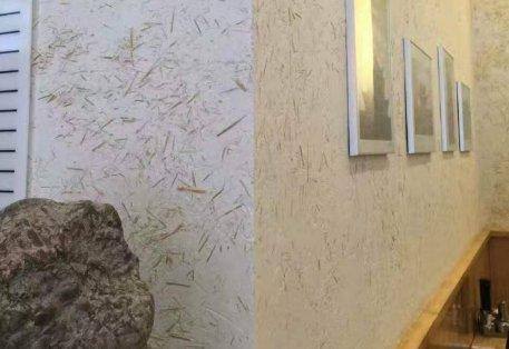 艺术涂料墙面涂装工艺 稻草漆