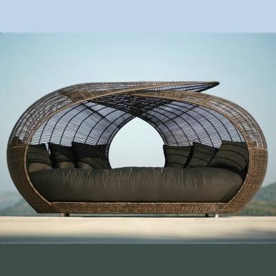 HXL-T131 藤制鸟笼躺床圆床户外棚