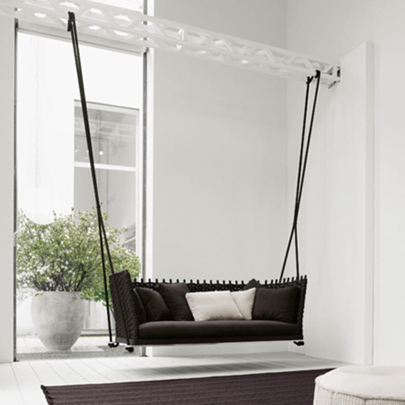 MG-S04柚木户外沙发吊椅吊篮沙发