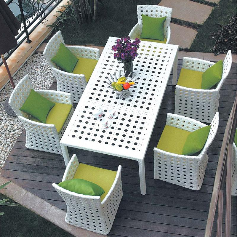 HXL-Z065户外餐桌餐椅组合白色