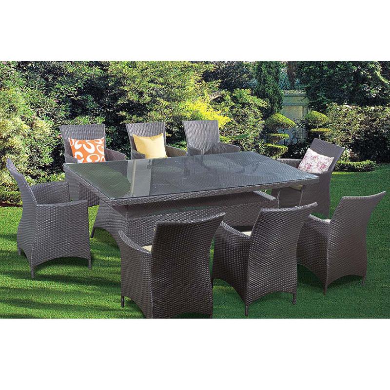 HXL-Z067户外餐桌餐椅组合编藤桌椅