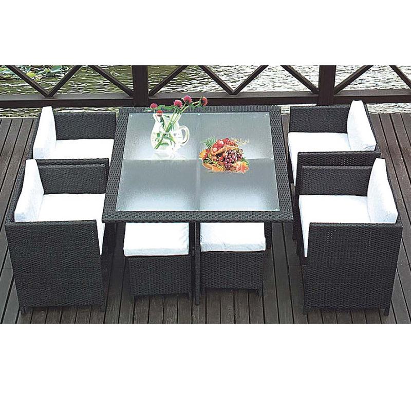 HXL-Z069户外桌椅组合餐桌餐椅吃饭桌子藤椅