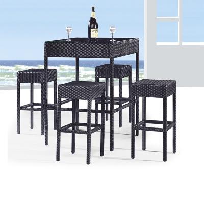 HXL-Z083吧台吧椅户外休闲餐椅组合吃饭喝酒台子