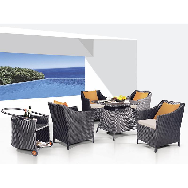 HXL-Z090餐桌餐椅组合休闲户外庭院椅子