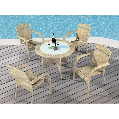 HXL-Z093餐桌餐椅户外休闲椅子桌子吃饭桌子