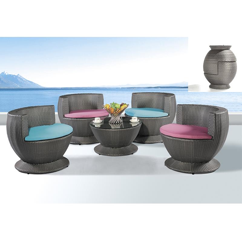 HXL-Z099餐桌餐椅组合户外休闲沙滩椅子桌子